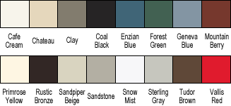 Storm Door Paint Swatches