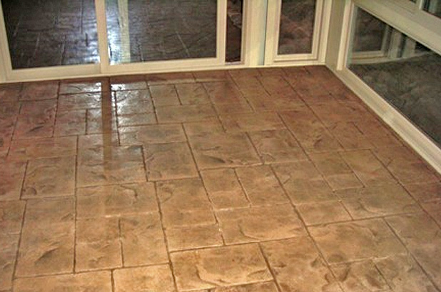 Stemped Concrete Floor