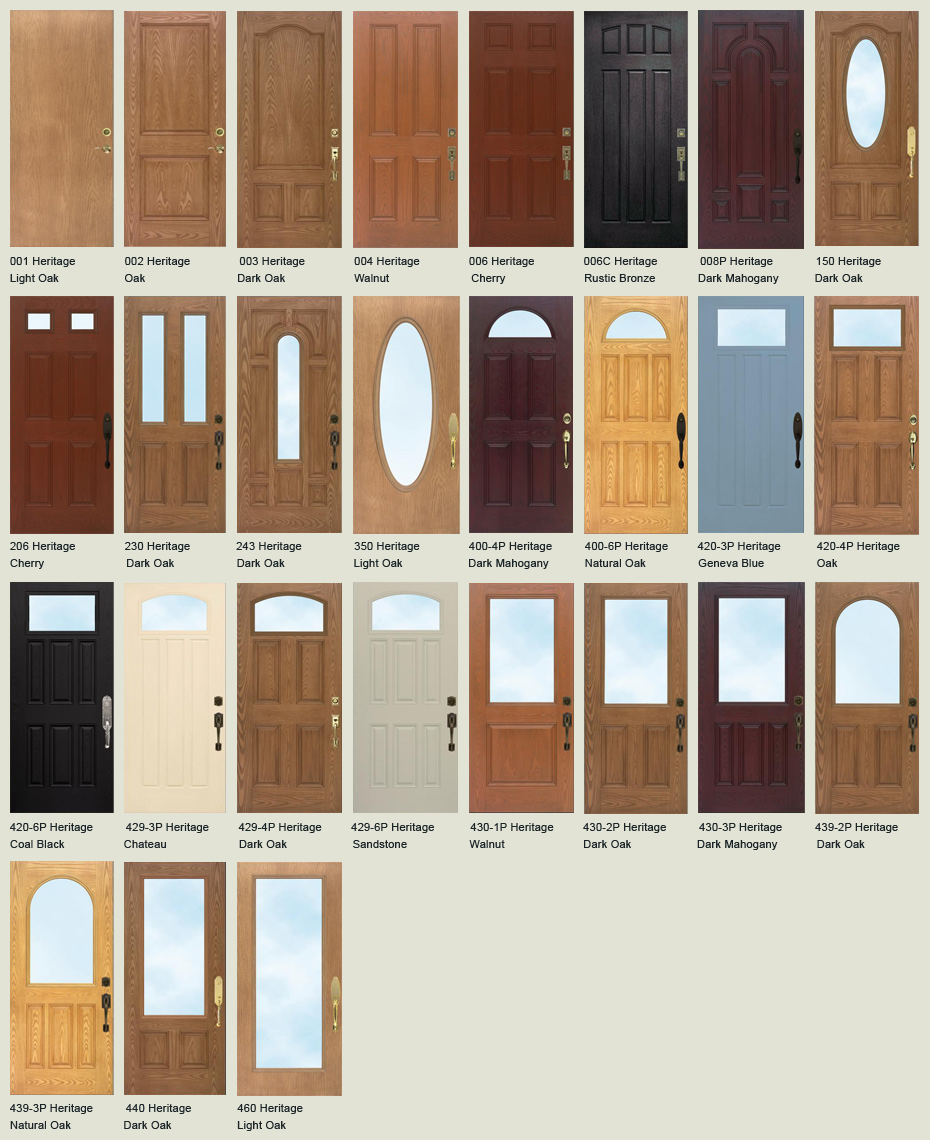 Fiberglass entry doors front doors and storm doors in for Residential doors