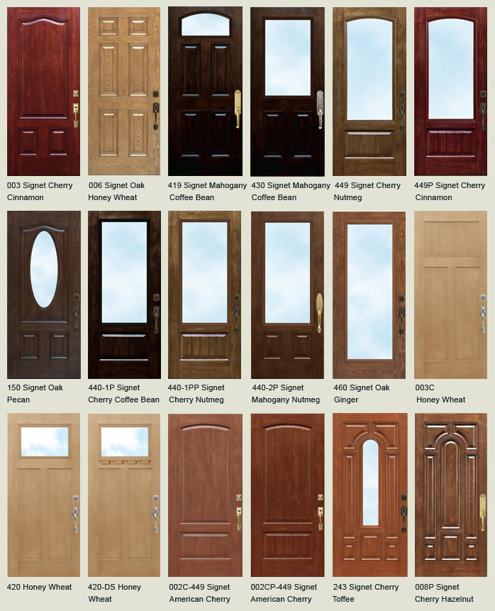 Fiberglass entry doors front doors and storm doors in for Exterior fiberglass doors