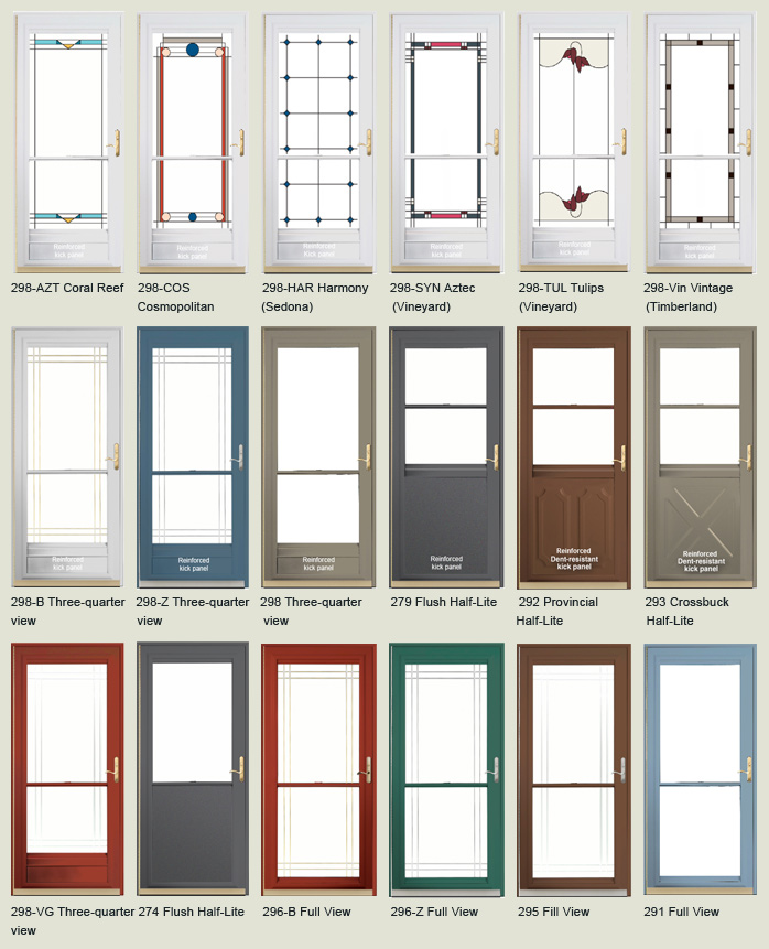 Fiberglass entry doors front doors and storm doors in for Entry door with storm door