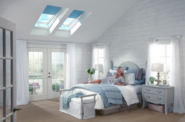 Bedroom With Skylights