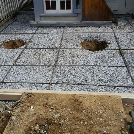 building foundation for deck and patio
