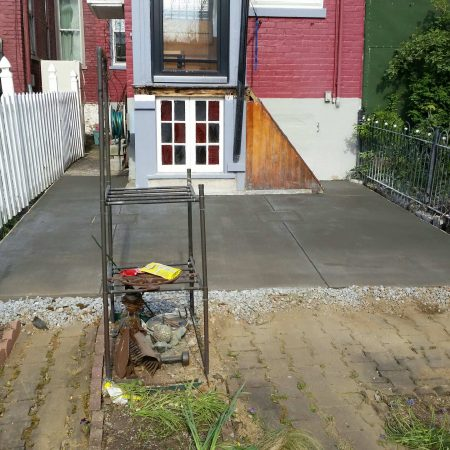 before adding a wooden deck