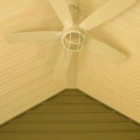 fan in sunroom