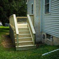 wooden deck addition