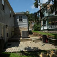 starting to construct wooden deck