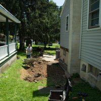 job site for deck addition