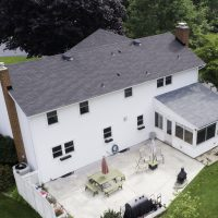 aerial view of house - before siding