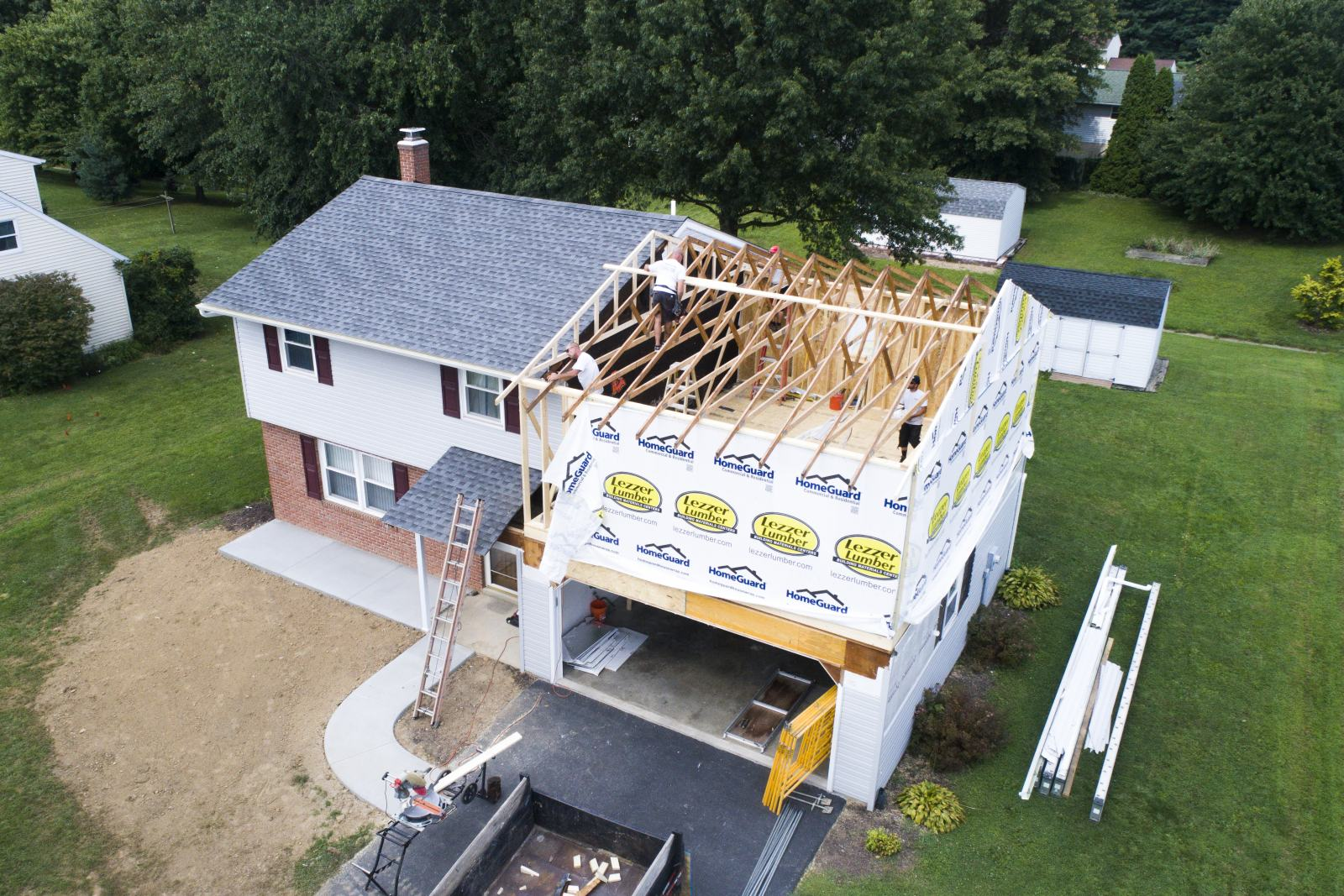 framing second floor home addition