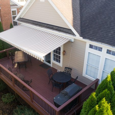 patio awning over deck