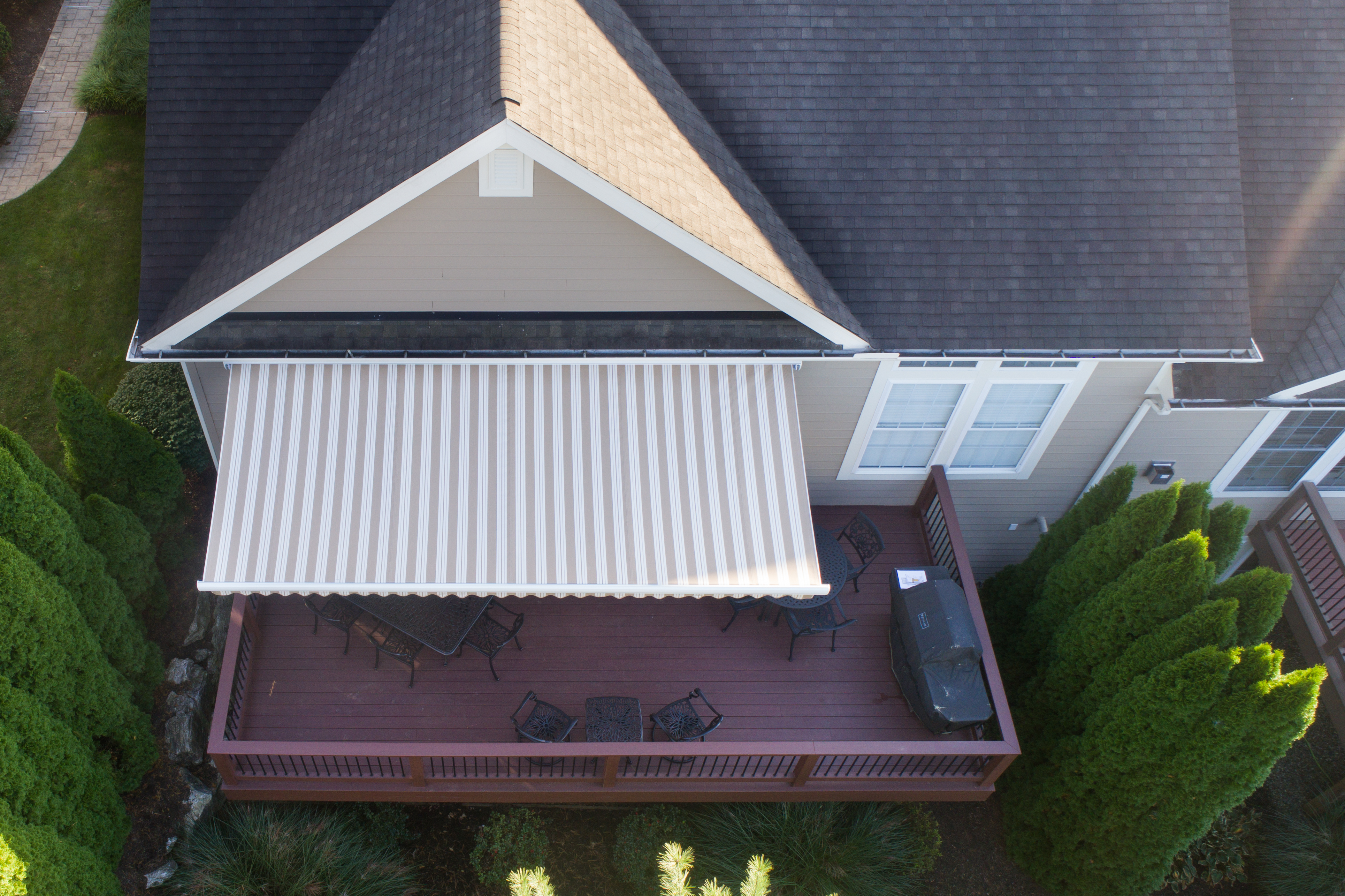 patio awning from above