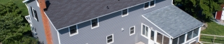 vinyl siding and capping work on a home