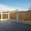 vinyl railings around a deck
