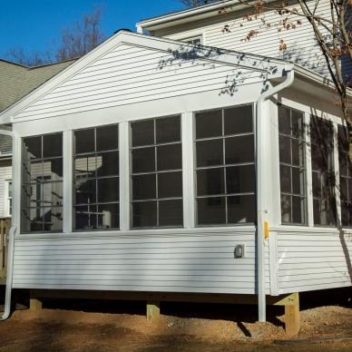 sunroom addition built onto deck
