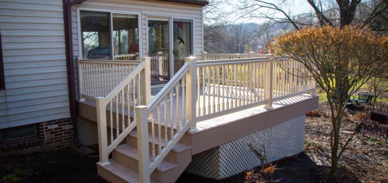 vinyl deck addition