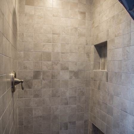 remodeled shower unit