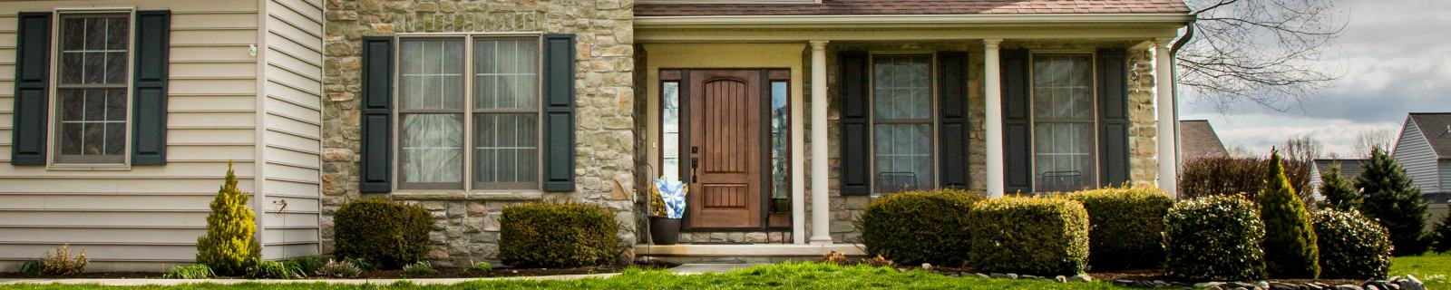 entry door replacement - new wooden front door