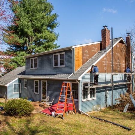 siding replacement in progress