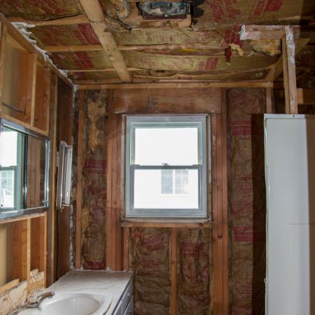 bathroom remodel in progress