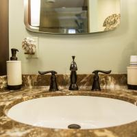 closeup of bathroom sink