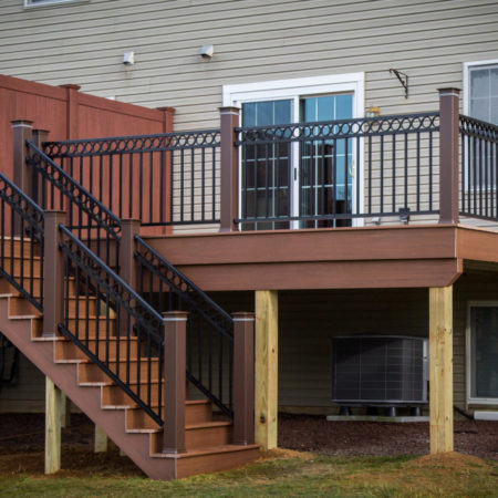 new deck with stairs