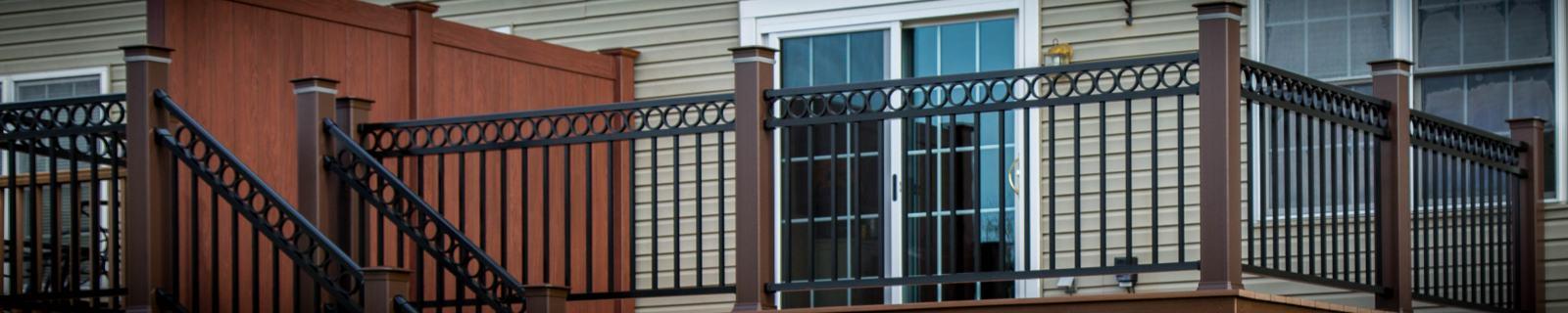new deck and stair vinyl railings