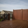 new vinyl railings and privacy fence on deck and stairs