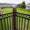corner column of new vinyl railings