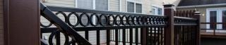 detail of deck railings