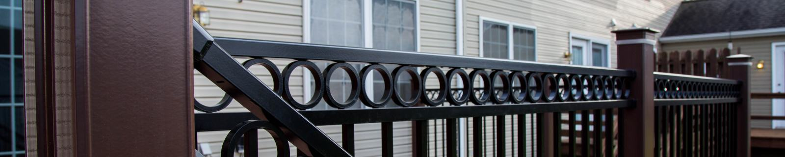 detail of vinyl posts and railings