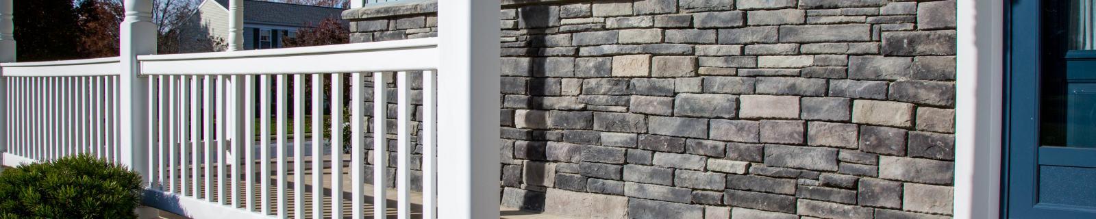 stone wall siding addition