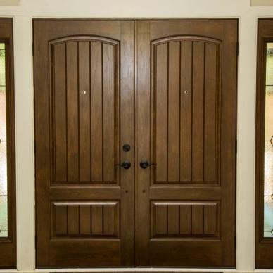 detail of replacement doors