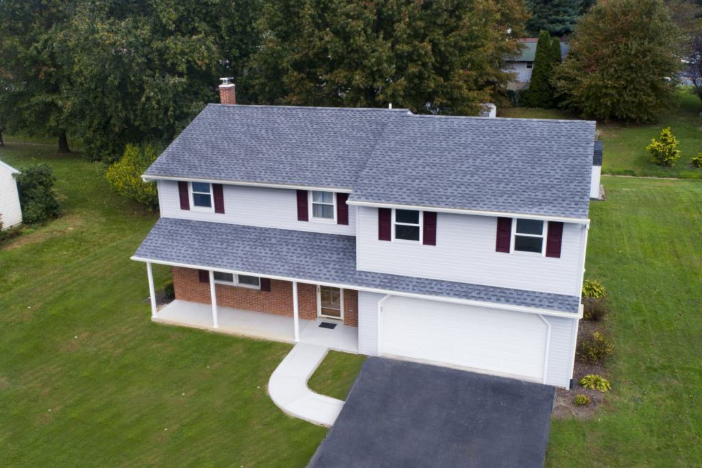 aerial view of second floor home addition