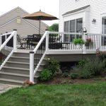 new deck and vinyl railings