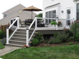fall maintenance tips - deck railing