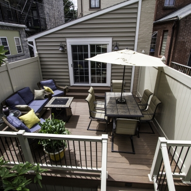 deck, fence and railings