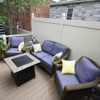 deck with deck furniture