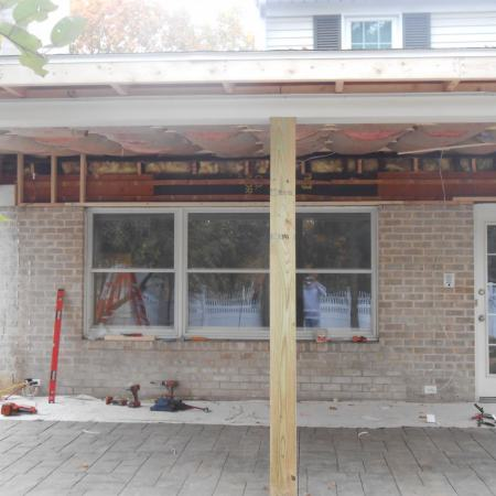 windows before patio door installation
