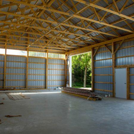 adding siding to pole barn