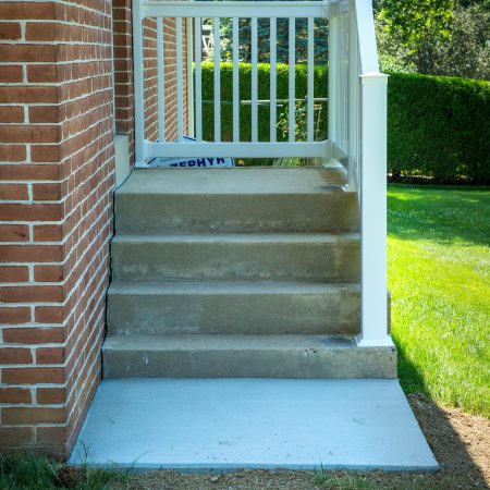 railing and concrete after