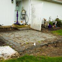 cracked concrete patio