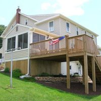 finished home addition and deck
