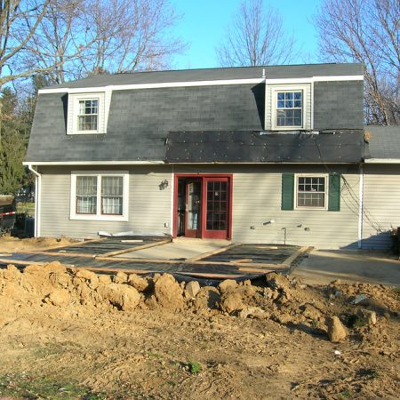 foundation for sunroom addition