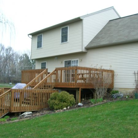 deck with no sunroom addition