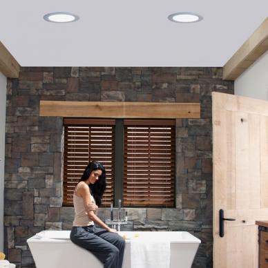 bathroom with sun tunnels
