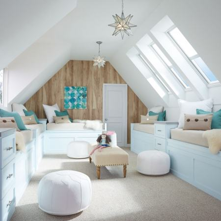kids room with skylights
