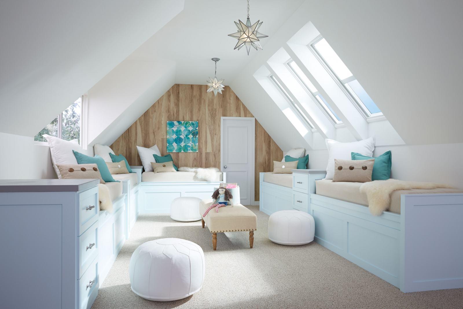 kids room with skylights