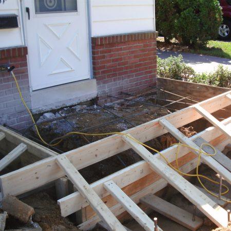 framing new concrete deck