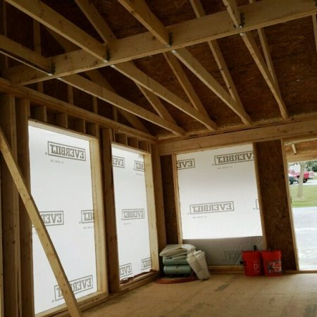 interior of home addition installation